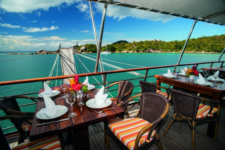 Lunch on Board the Pegasus in the Seychelles